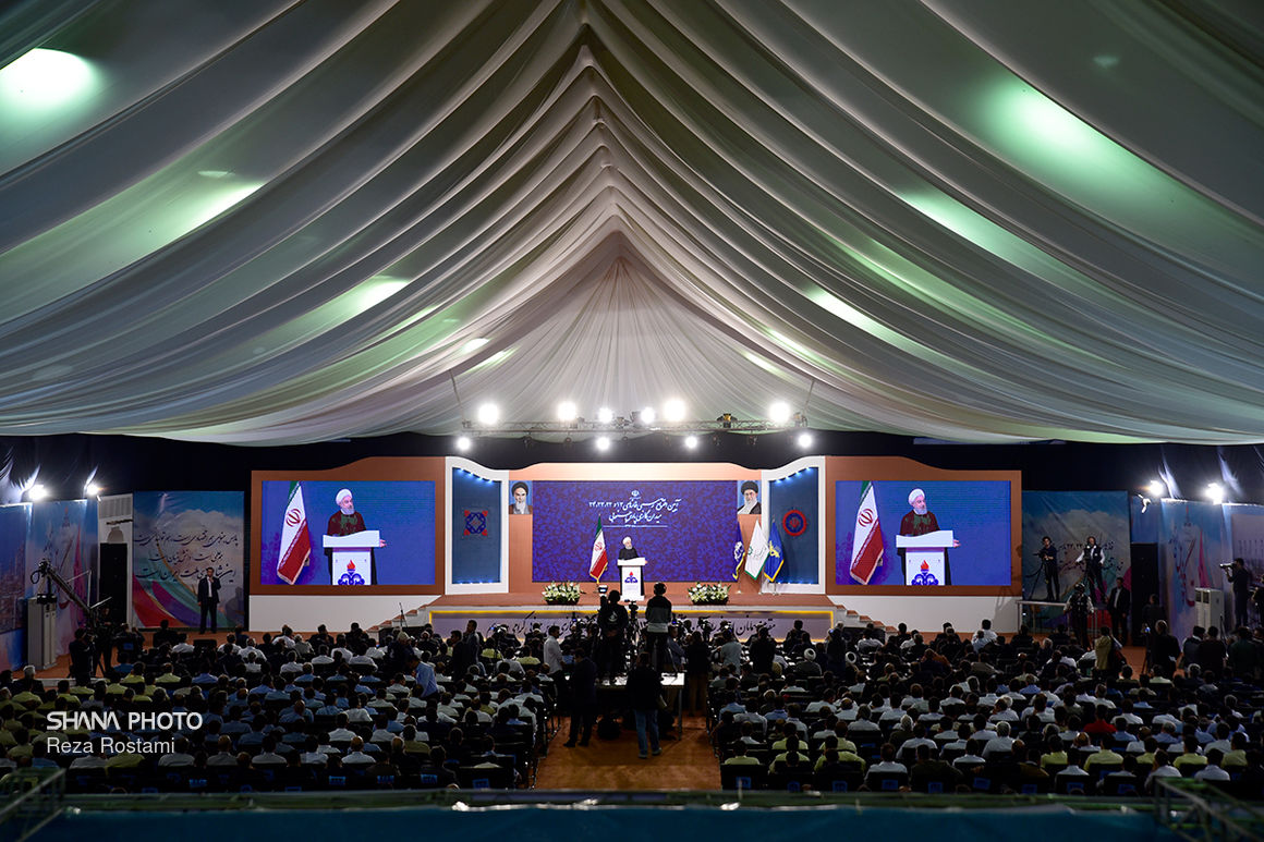 آیین افتتاح پالایشگاه فازهای ۱۳ و ۲۲ تا ۲۴ پارس جنوبی