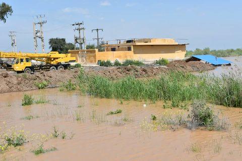 پشتیبانی نفت و گاز اروندان از مناطق سیلزده شادگان و خرمشهر