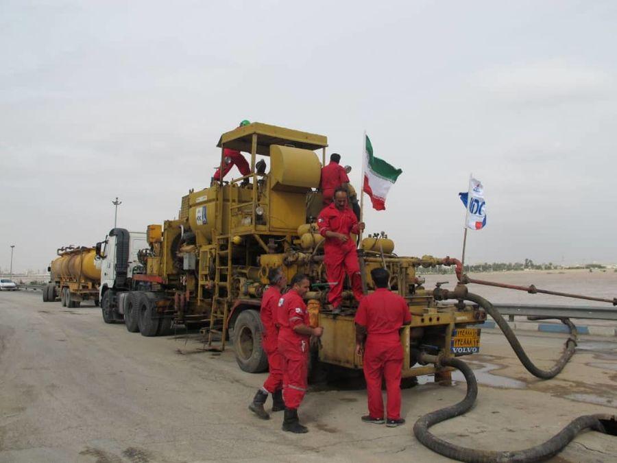 استفاده از پمپهای فشار قوی ملی حفاری برای جمعآوری آبهای سطحی در اهواز