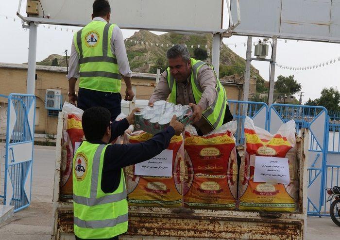تامین غذای گرم برای سیلزدگان از سوی نفت و گاز مسجدسلیمان