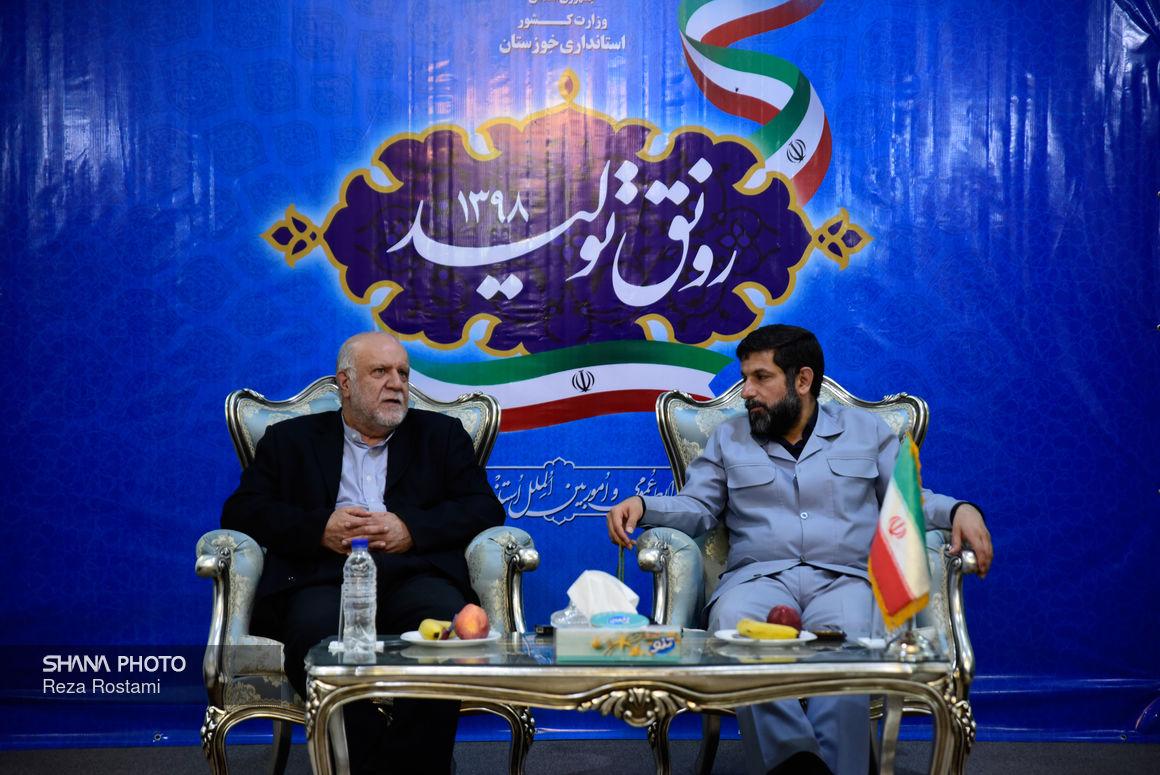 سخنان وزیر نفت پس از نشست با استاندار خوزستان در اهواز