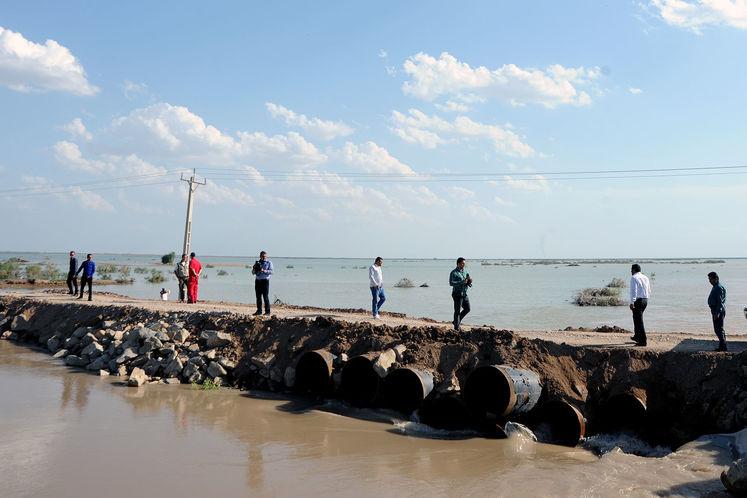 ورودی رودخانه نیسان به هورالعظیم