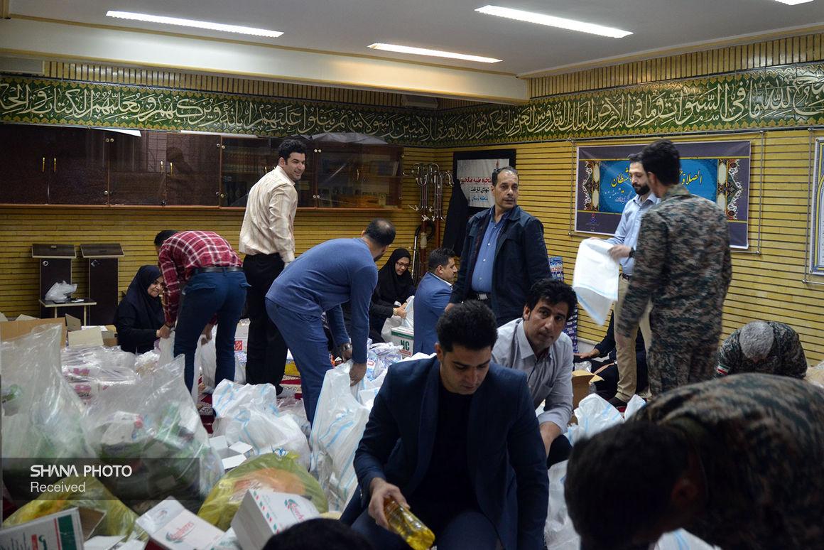 ارسال هزار و ۲۰۰ بسته مواد غذایی به مناطق سیلزده خوزستان
