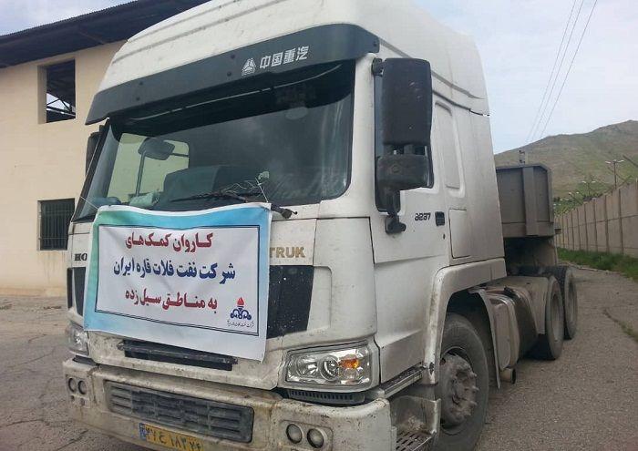 اعزام کاروان کمکهای شرکت نفت فلات قاره به مناطق سیلزده