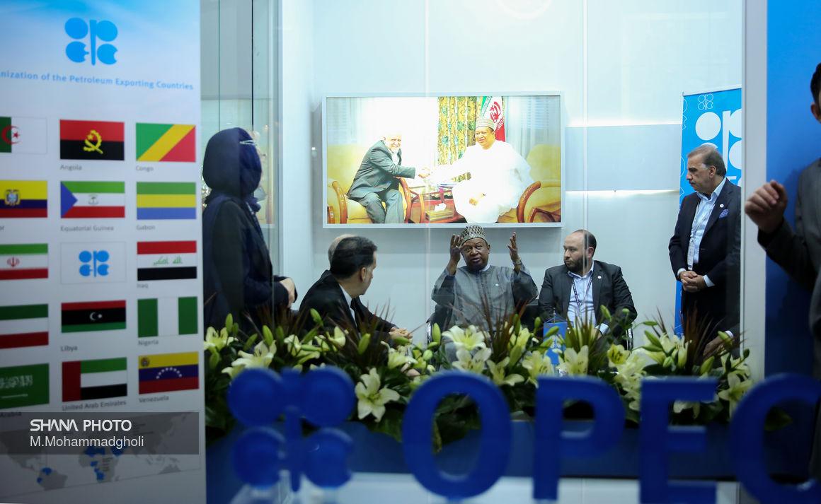 بازدید دبیرکل اوپک از بیست و چهارمین نمایشگاه بینالمللی نفت