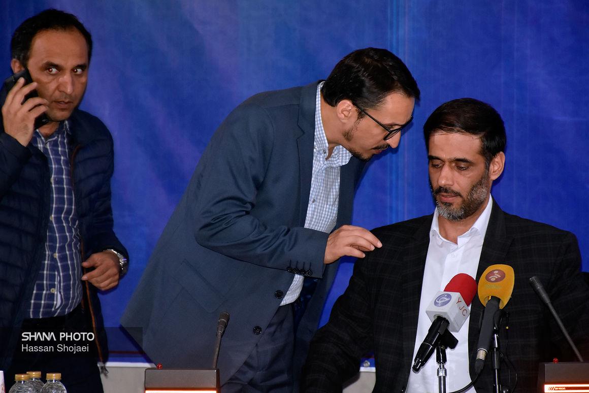 نشست خبری فرمانده قرارگاه سازندگی خاتم الانبیا (ص) در نمایشگاه نفت ۲۴