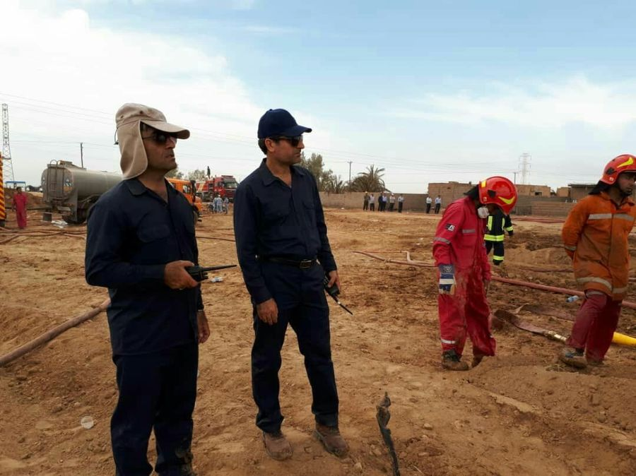 Fire Put out at Oil Pipeline in Southwest Iran