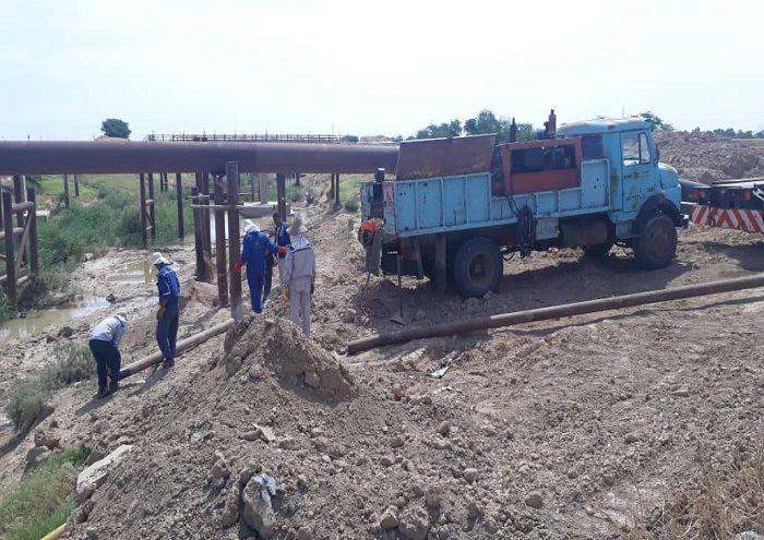 ایمنسازی خطوط لوله ۲۶ اینچ نفت در کوپال