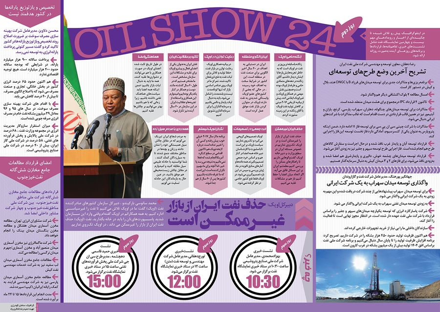 اهم رویدادهای دومین روز از بیست و چهارمین نمایشگاه نفت