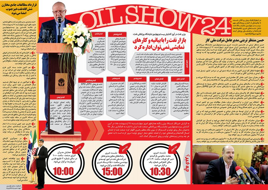اهم رویدادهای نخستین روز بیست و چهارمین نمایشگاه نفت