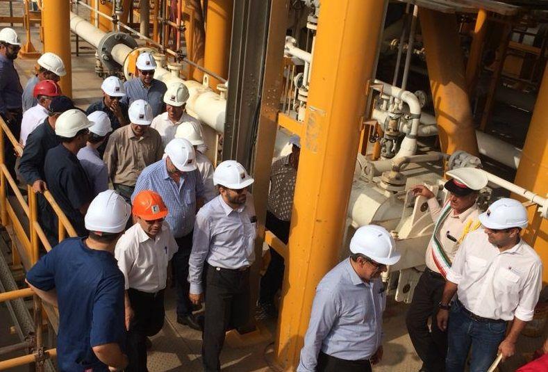 پیشرفت ۹۰ درصدی پروژه ساخت سکوهای ۷ و ۸ میدان هندیجان