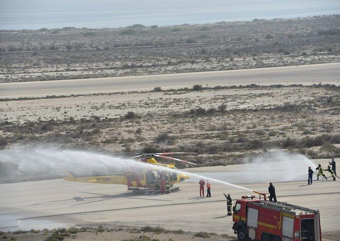 مانور فرود اضطراری هلیکوپتر در لاوان برگزار شد