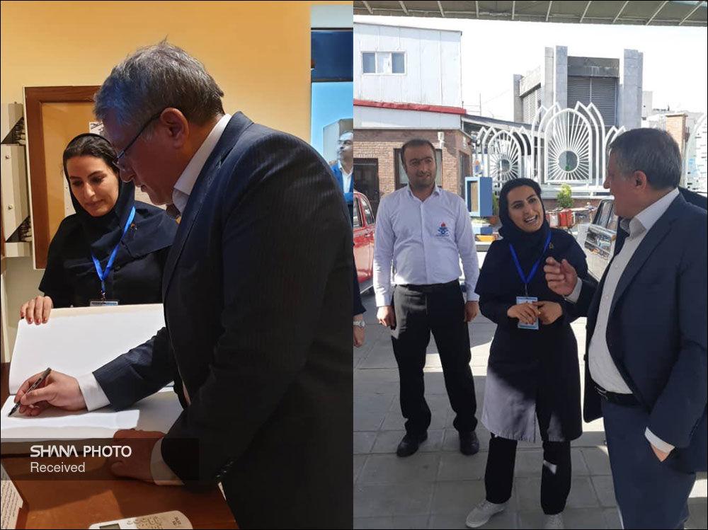 دیدار رئیس شورای شهر تهران از موزه پمپبنزین دروازه دولت