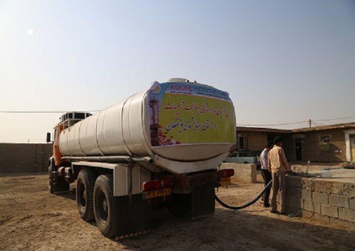 توزیع روزانه ۶۴ هزار لیتر آب آشامیدنی در غیزانیه