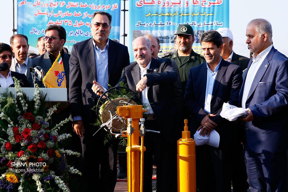 افتتاح طرحهای گازرسانی  استان آذربایجان شرقی با حضور رئیس جمهوری