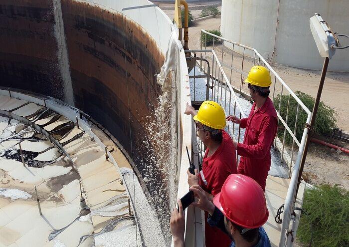 راهاندازی سامانه فومدوزینگ مخازن نفت منطقه خارک