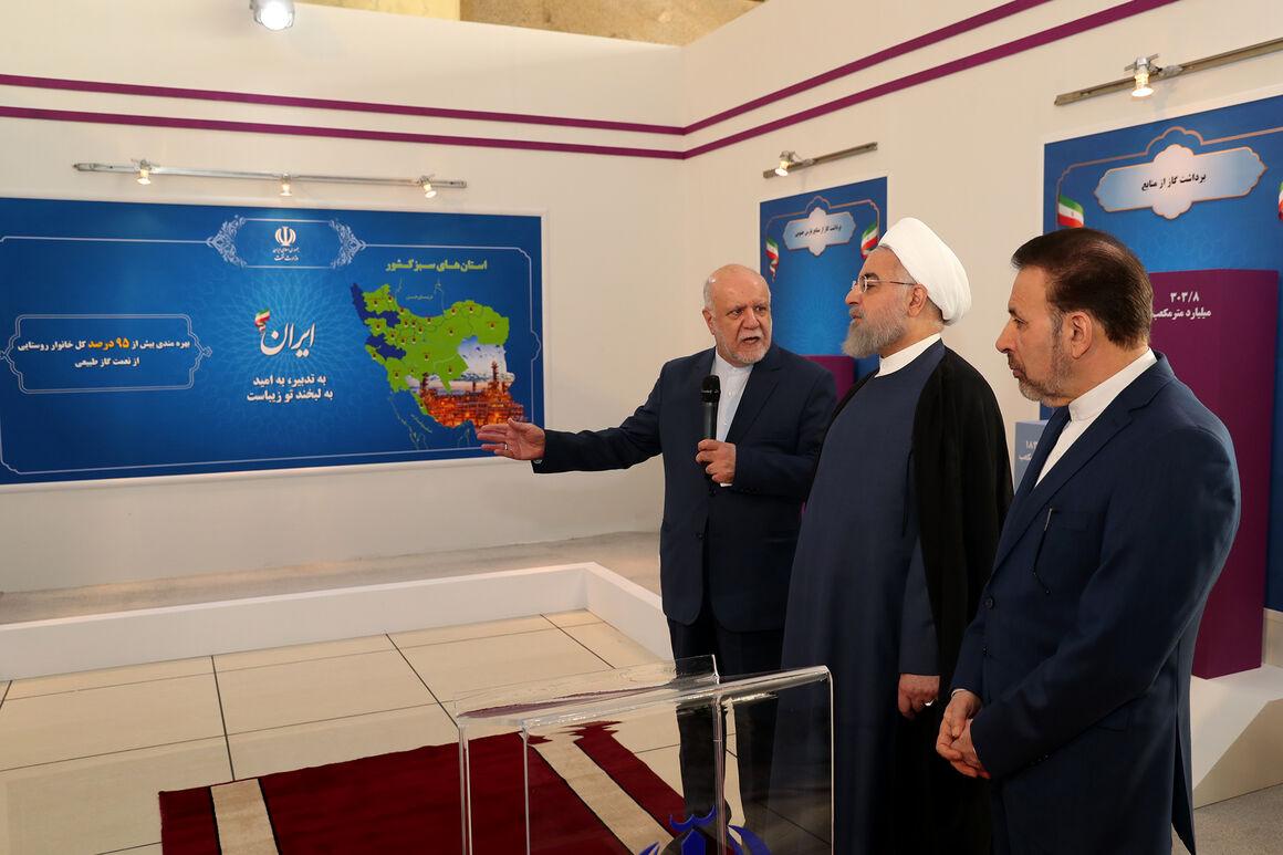 زنگنه دستاوردهای وزارت نفت در توسعه زیرساختهای روستایی را تشریح کرد