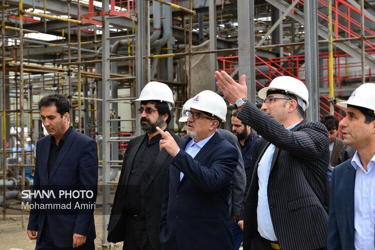 بازدید معاون وزیر نفت ازطرح پتروشیمی آرتا انرژی