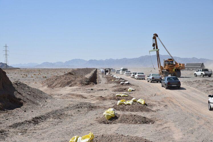 عملیات احداث خط لوله انتقال گاز زاهدان - دوراهی دشتک به طول 110 کیلومتر با پیشرفت فیزیکی 50 درصدی و اعتبار 520 میلیارد تومانی