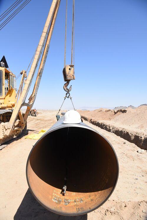 لوله 36 اینچ انتقال گاز زاهدان - دوراهی دشتک