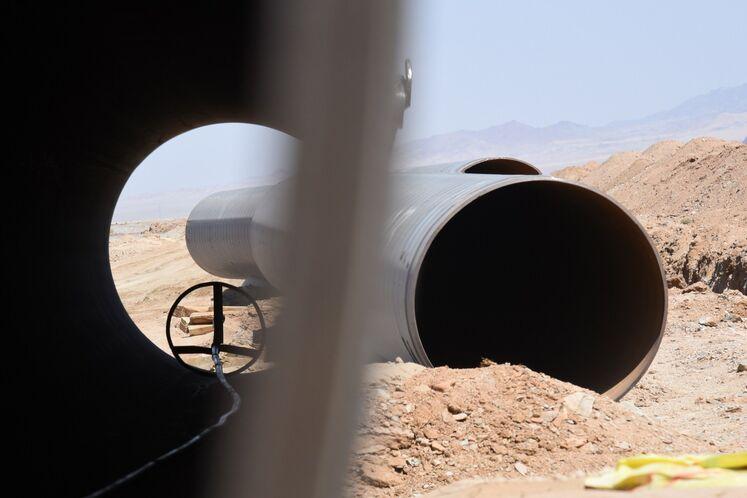خط لوله 36 اینچ انتقال گاز زاهدان - دوراهی دشتک