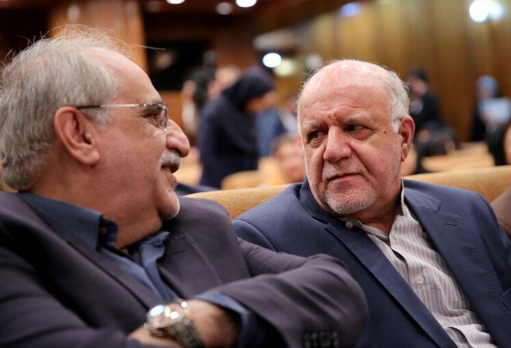 بیژن زنگنه، وزیر نفت و مسعود کرباسیان مدیرعامل شرکت ملی نفت ایران