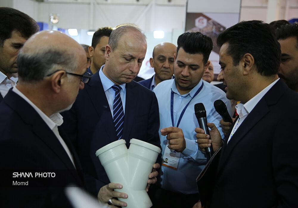 بازدید وزیر نفت و منابع معدنی سوریه از سیزدهمین نمایشگاه ایران پلاست