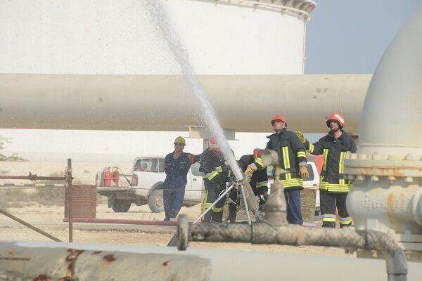 رزمایش مقابله با شرایط اضطراری در خارک برگزار شد