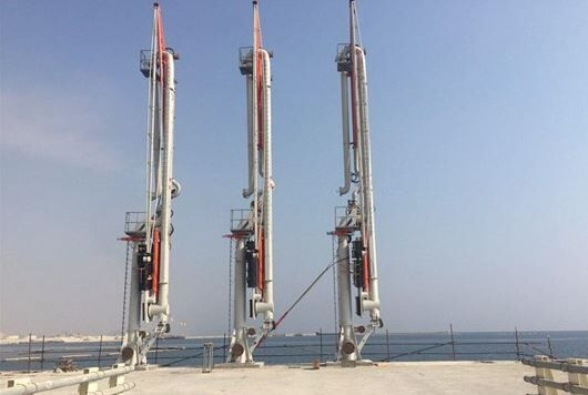 Loading Arms of Tombak Export Port Installed