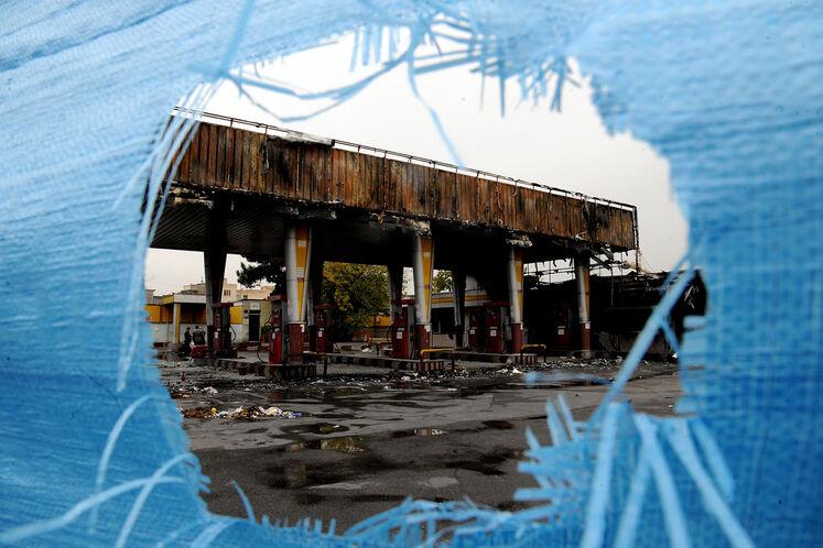 تخریب و خسارتهای وارده به جایگاههای سوخت اطراف تهران