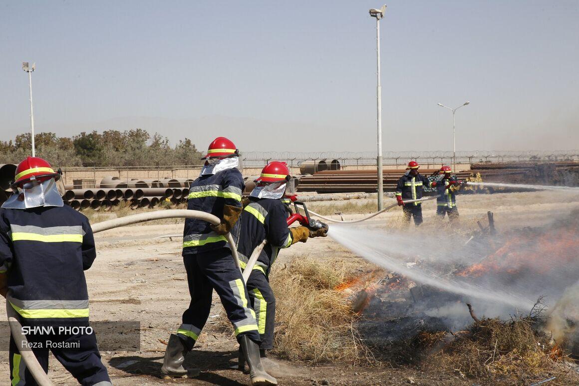 برگزاری رزمایش مدیریت شرایط اضطراری در پالایشگاه گاز ایلام