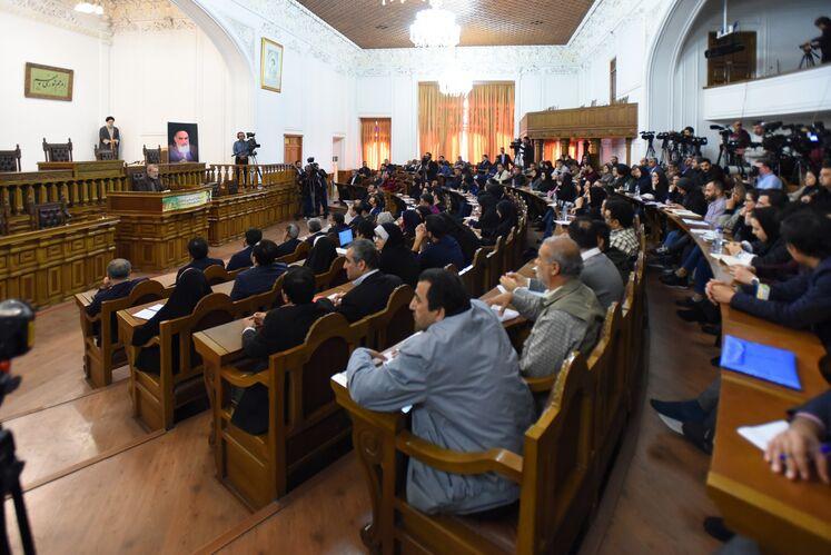 نشست خبری علی لاریجانی، رئیس مجلس شورای اسلامی