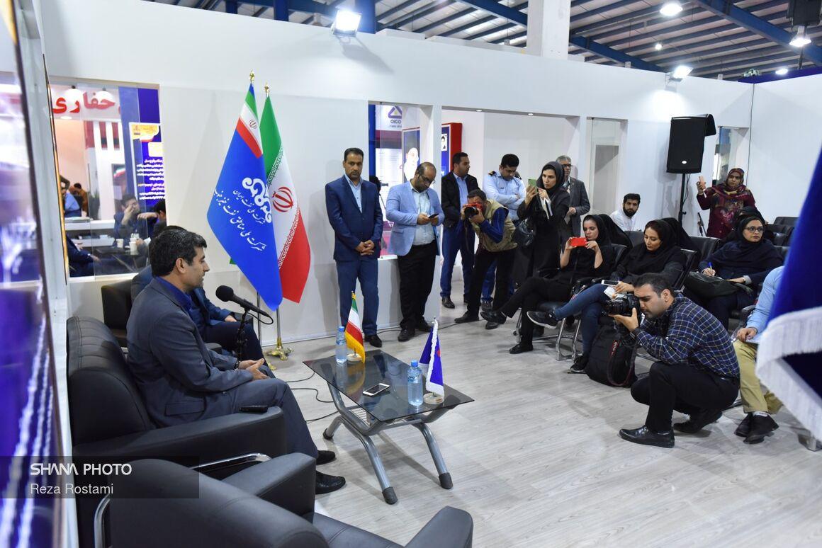 نشست خبری مدیرعامل شرکت ملی مناطق نفتخیز جنوب در نمایشگاه خوزستان