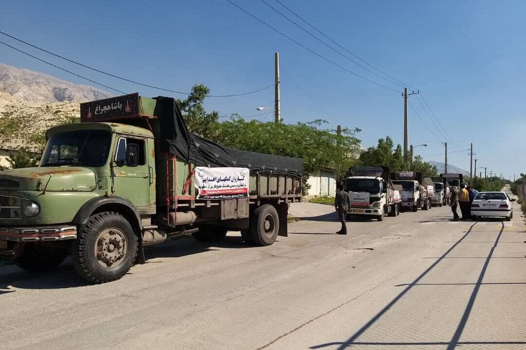 ارسال محموله کمکهای هلدینگ خلیجفارس به مناطق سیلزده