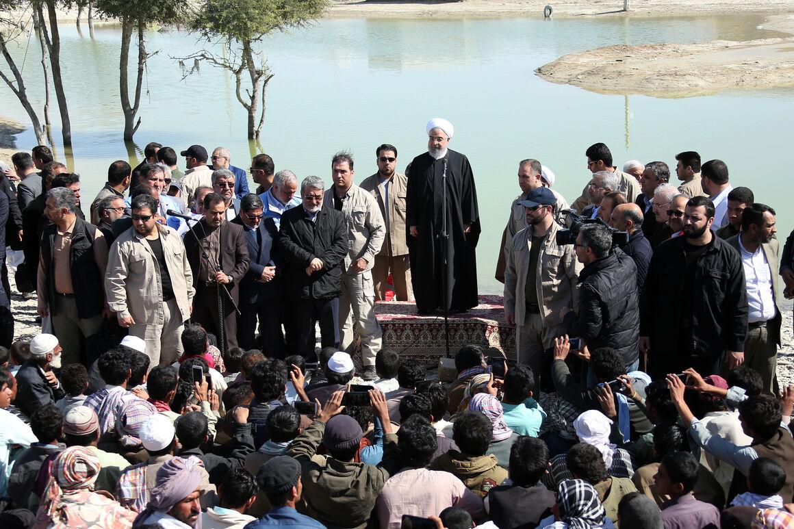 روحانی: کنار مردم مناطق سیلزده سیستان و بلوچستان هستیم