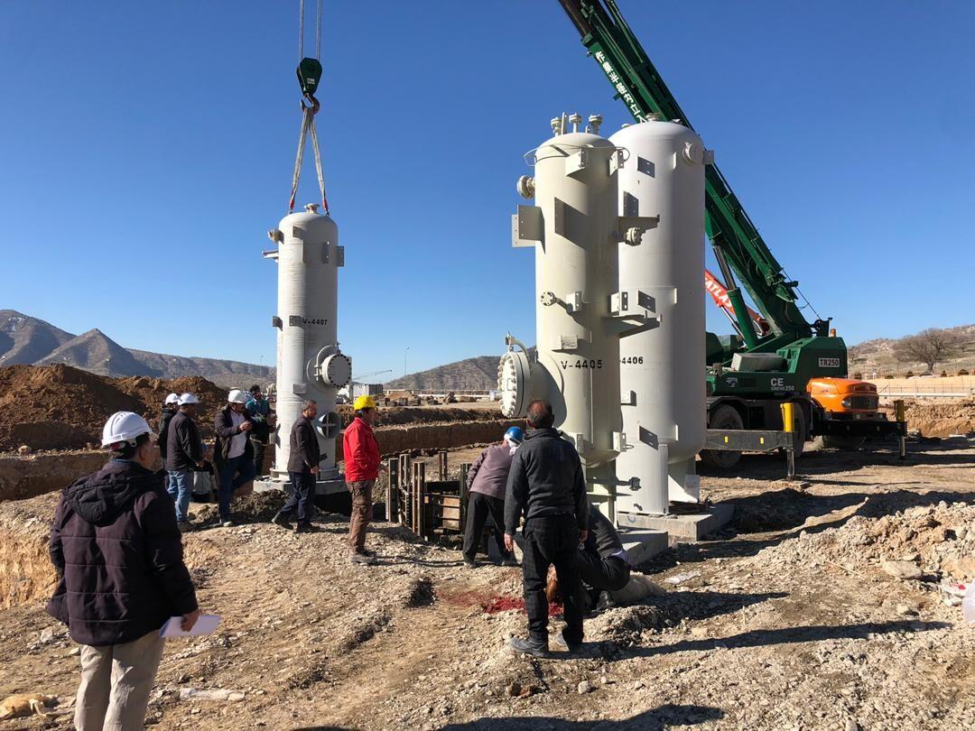 نصب نخستین تجهیزات فرآیندی واحد پلیپروپیلن در ایلام