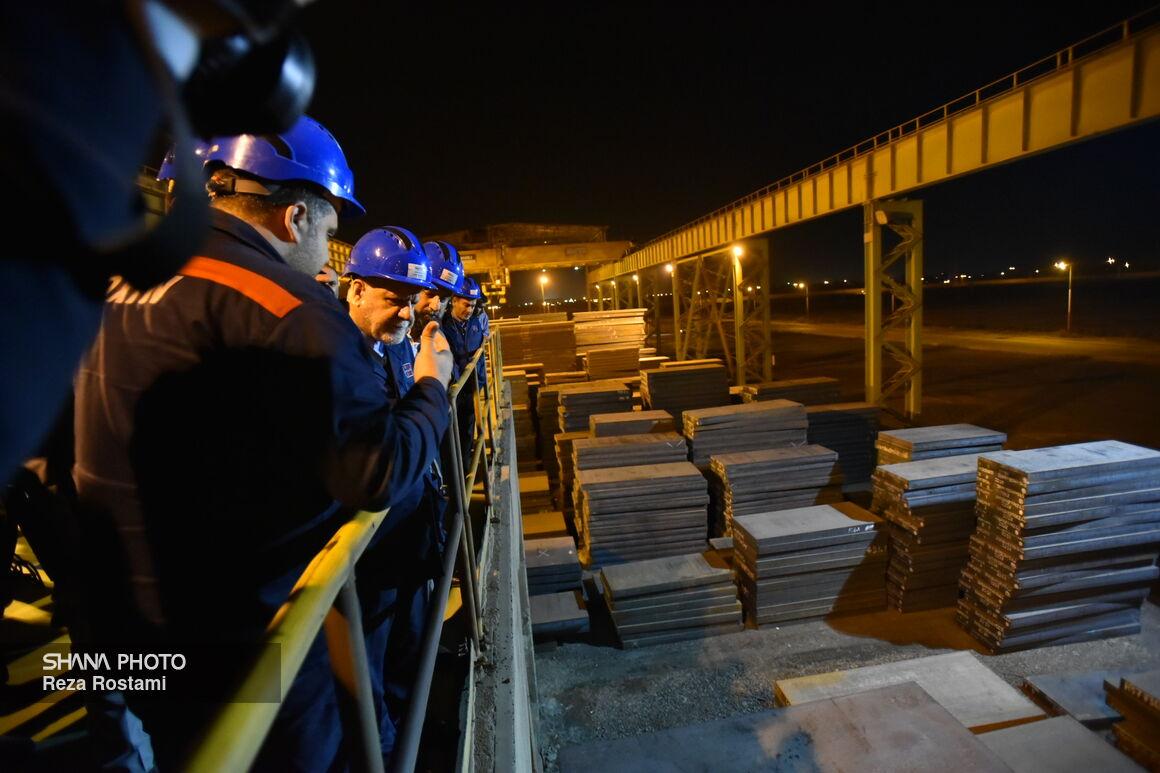 بازدید وزیر نفت از کارخانه فولاد اکسین خوزستان