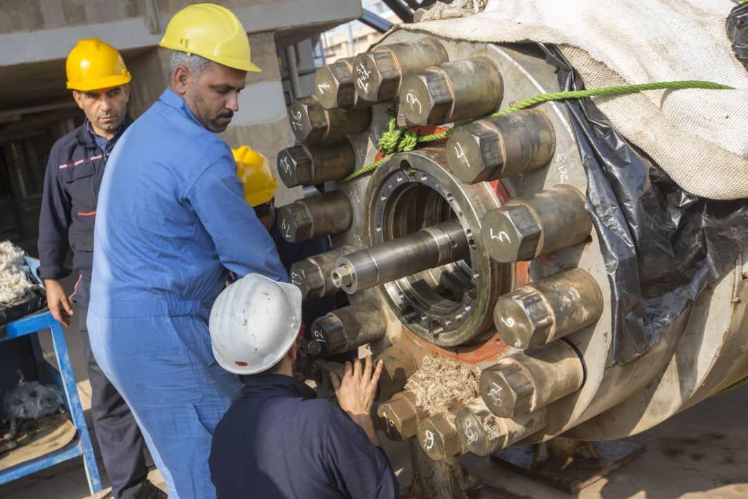 کمپرسورهای تزریق گاز دارخوین تعمیر شد