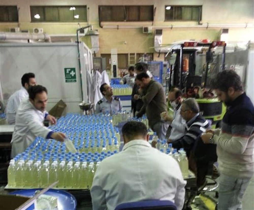شرکت ملی صنایع پتروشیمی اقدام به تولید مواد ضدعفونی کرد