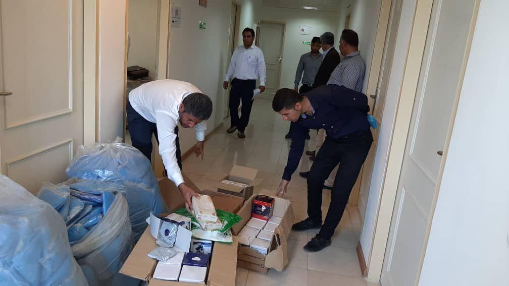 محموله کمکهای بهداشتی منطقه ویژه پارس وارد کنگان شد