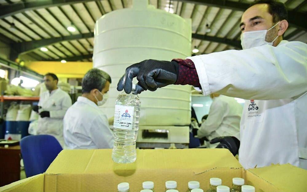 تولید بیش از ۶۰ هزار بطری محلول ضدعفونیکننده در شرکت پژوهش و فناوری پتروشیمی