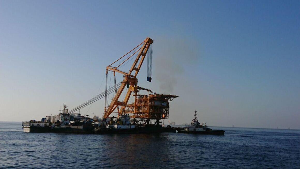 سکوی S۱ میدان نفتی سلمان نصب شد