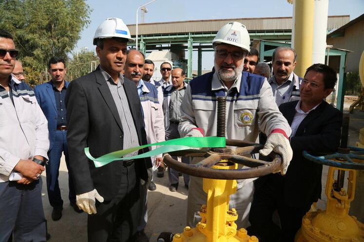 خط لوله انتقال سوخت نیروگاه برق خارک افتتاح شد