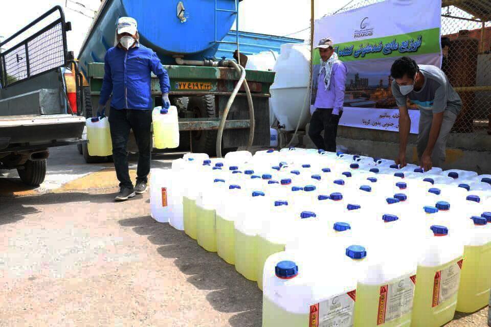 توزیع دومین مرحله مایع ضدعفونی کننده آب ژاول در عسلویه