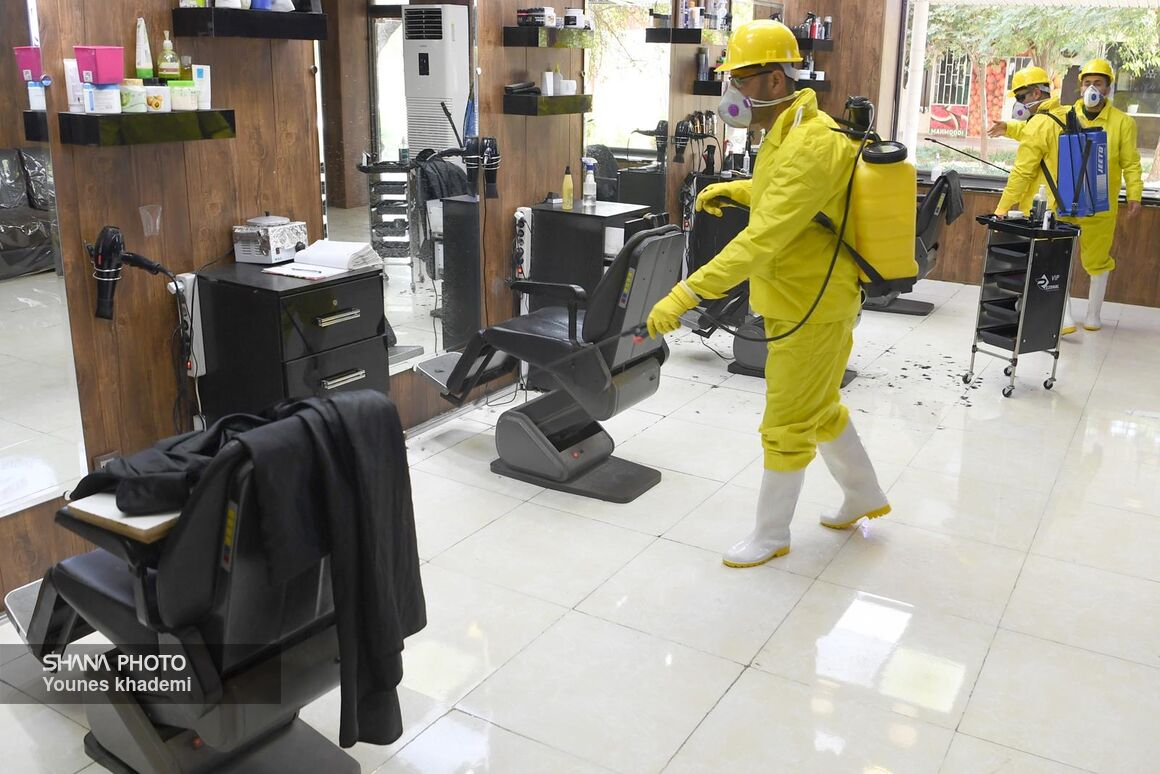 گندزدایی و ضد عفونی ویروس کرونا در شهرک نفت اهواز
