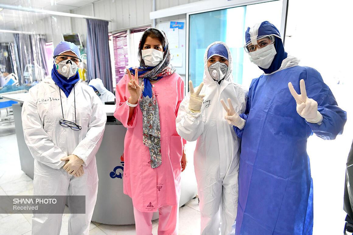 تلاشهای جهادگران عرصه سلامت در بیمارستان نفت تهران (۱)