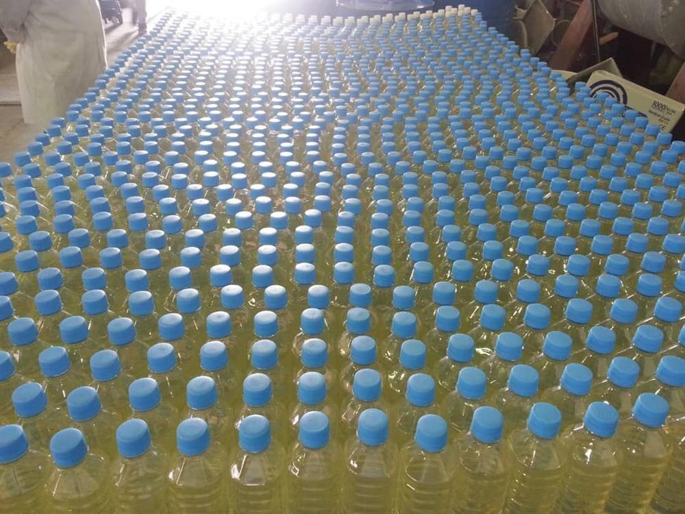 تولید بیش از ۱۷۰ هزار بطری ماده ضدعفونیکننده دست در پتروشیمی