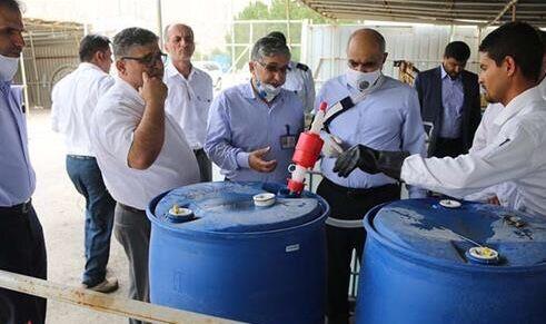 کارگاه تولید محلول ضدعفونی در منطقه ویژه پارس راهاندازی شد