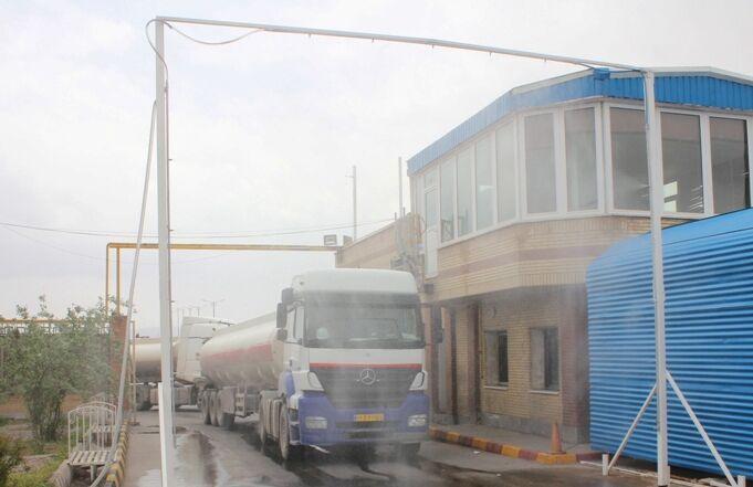 راهاندازی دروازه ضدعفونیکننده نفتکشها در انبار نفت کرمان
