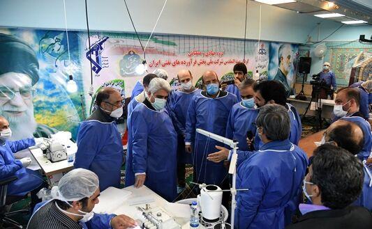 افتتاح کارگاه تولید ماسک حوزه بسیج در پخش منطقه تهران
